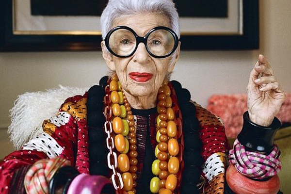 Iris Apfel loves a boisterous bracelet.