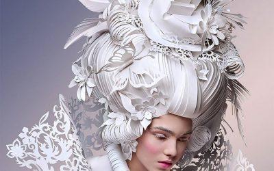 Marie Antoinette loved ornate hair.