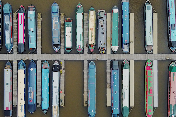 Boats from above.
