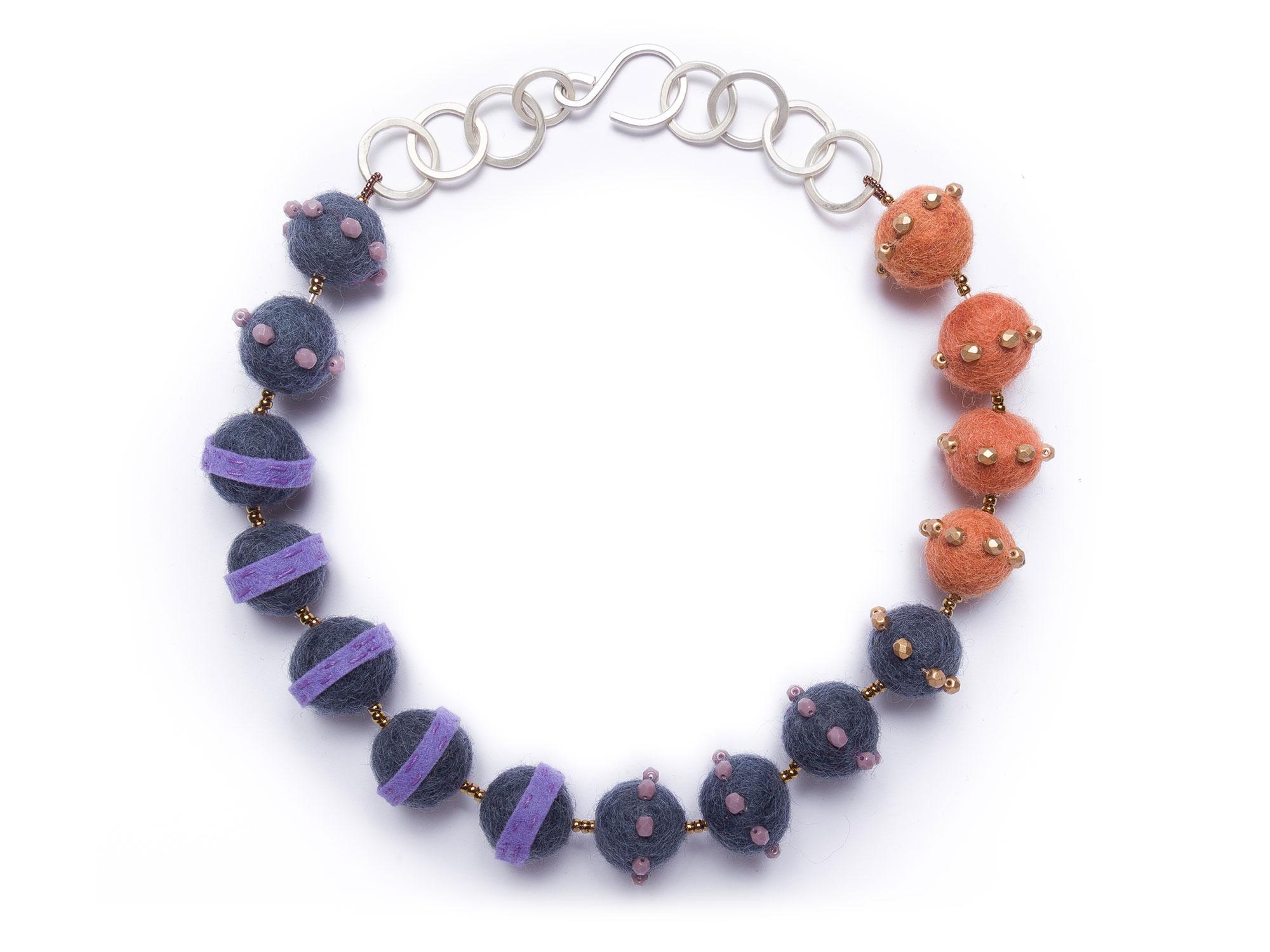 Petite Felt Stripe Necklace
