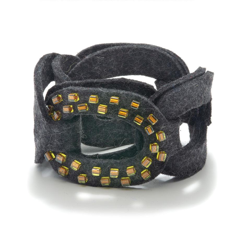 Felt Chain Cuff