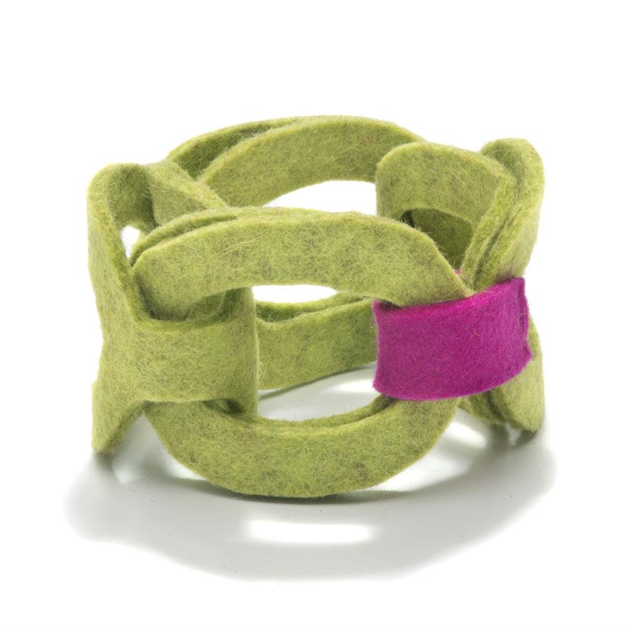 F Chartreuse Magenta Tab