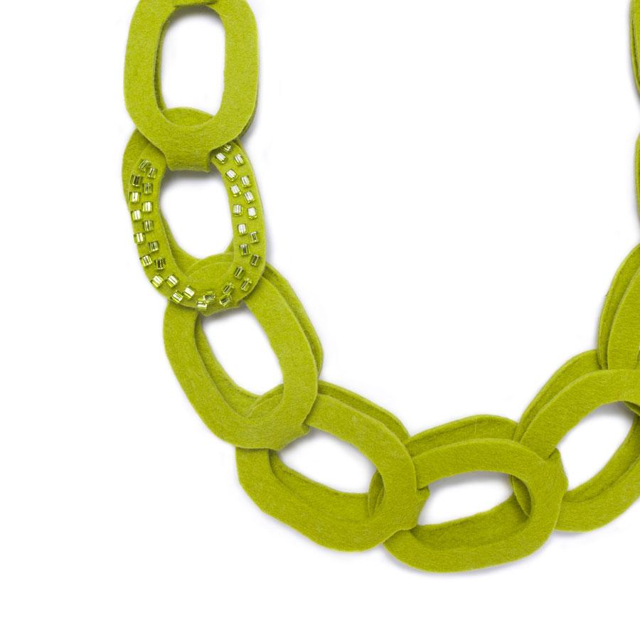Short Felt Chain Necklace