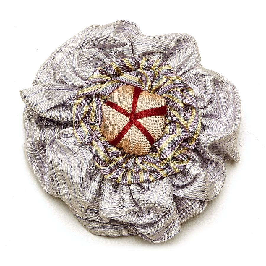 Victorian Silk Brooch