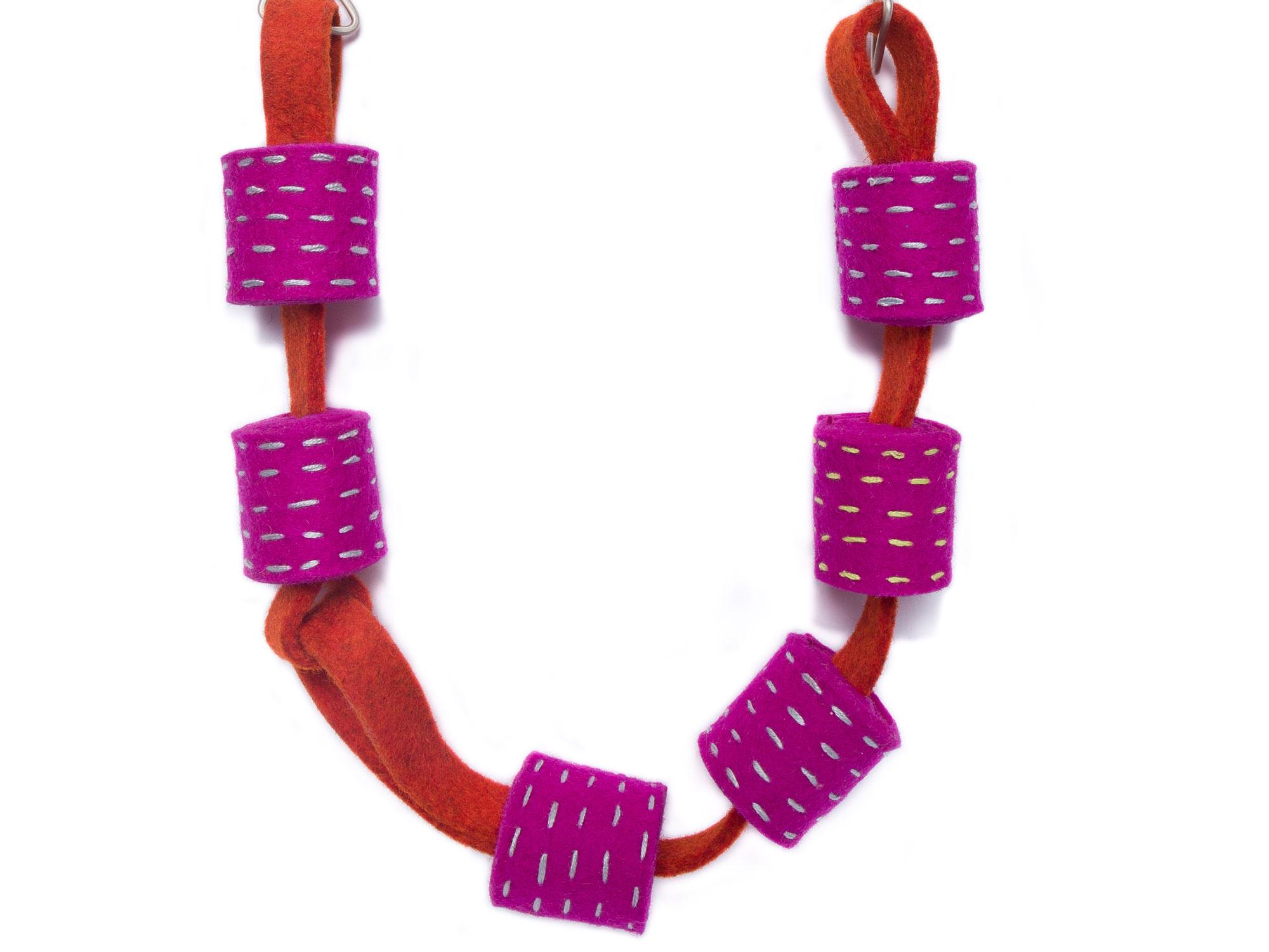 Big Rolled Felt Necklace
