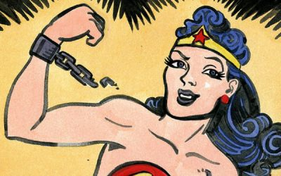 Wonder Woman can fly and talk to animals.